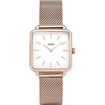 Cluse Reloj Analógico para Mujer de Cuarzo con Correa en Acero Inoxidable CL60003: Amazon.es: Relojes