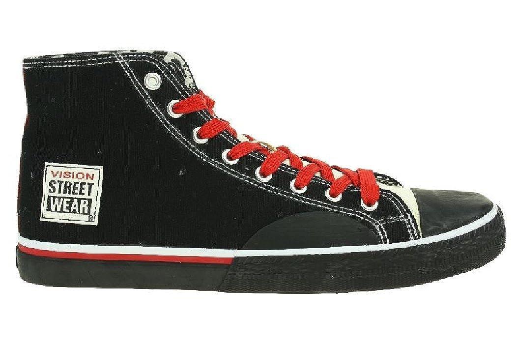 d5916ea699bc95 97W1 Vision Street Wear Canvas Hi Herren Sneaker Freizeit Schwarz Gr. 9 UK  43  Amazon.de  Schuhe   Handtaschen