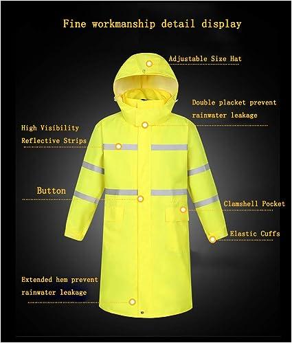 Meijunter Reflective Poncho Protective Waterproof Long Siamese Rain Jacket Coat Traffic Control Warning Workwear