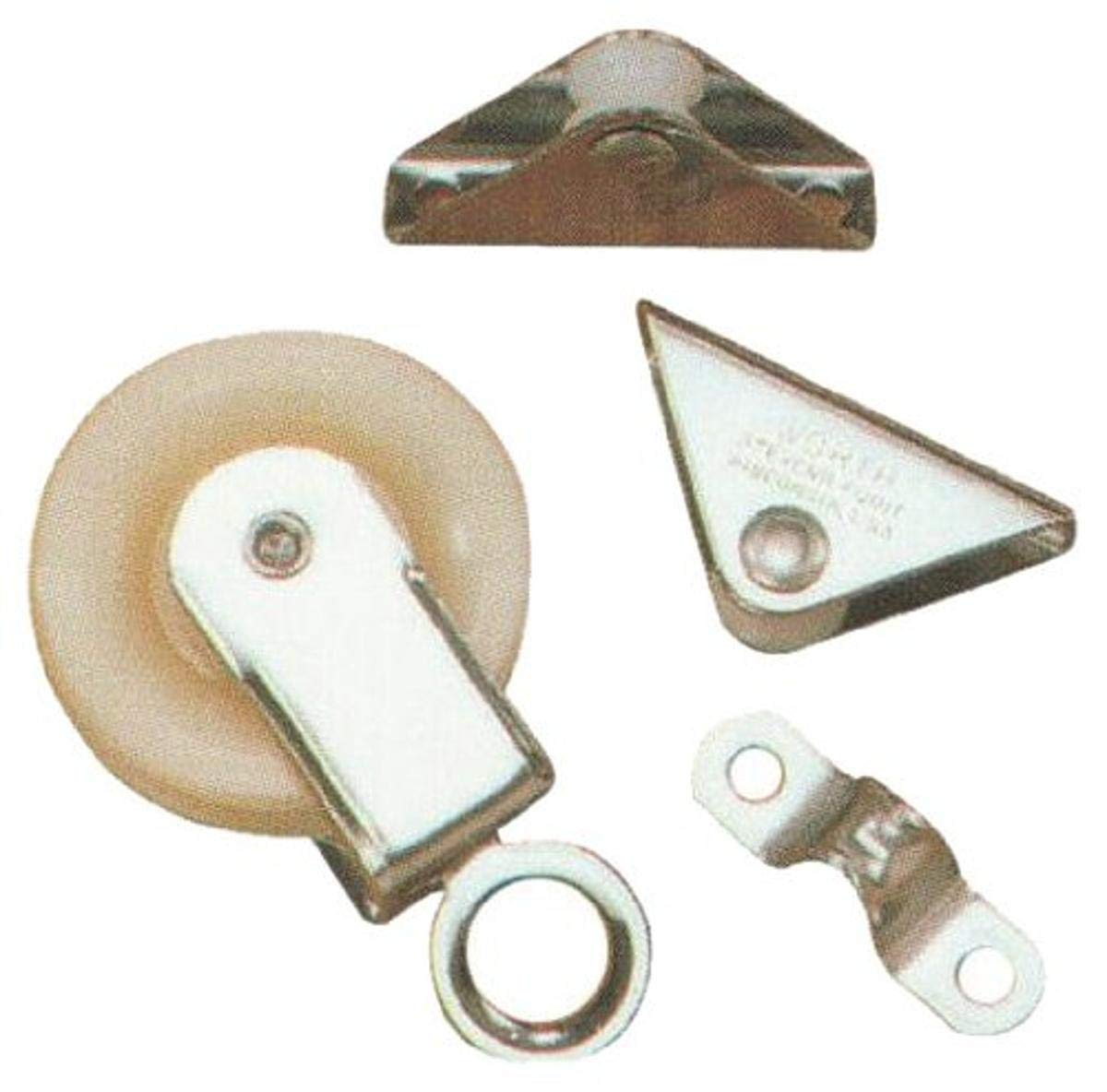 Worth Company 15100 Stainless Steel Marine Swivel Pulley and Line Guide, Silver Metallic Finish