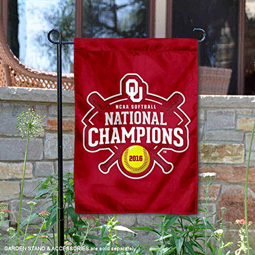 College Flags and Banners Co. Oklahoma Sooners 2016 Women's Softball Champions Garden Flag