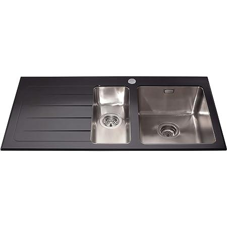 CDA kvl02 Top-Mount Kitchen Sink Rectangular Glass - Kitchen Sinks ...