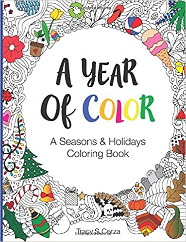 amazon com a year of color a seasons holidays coloring book