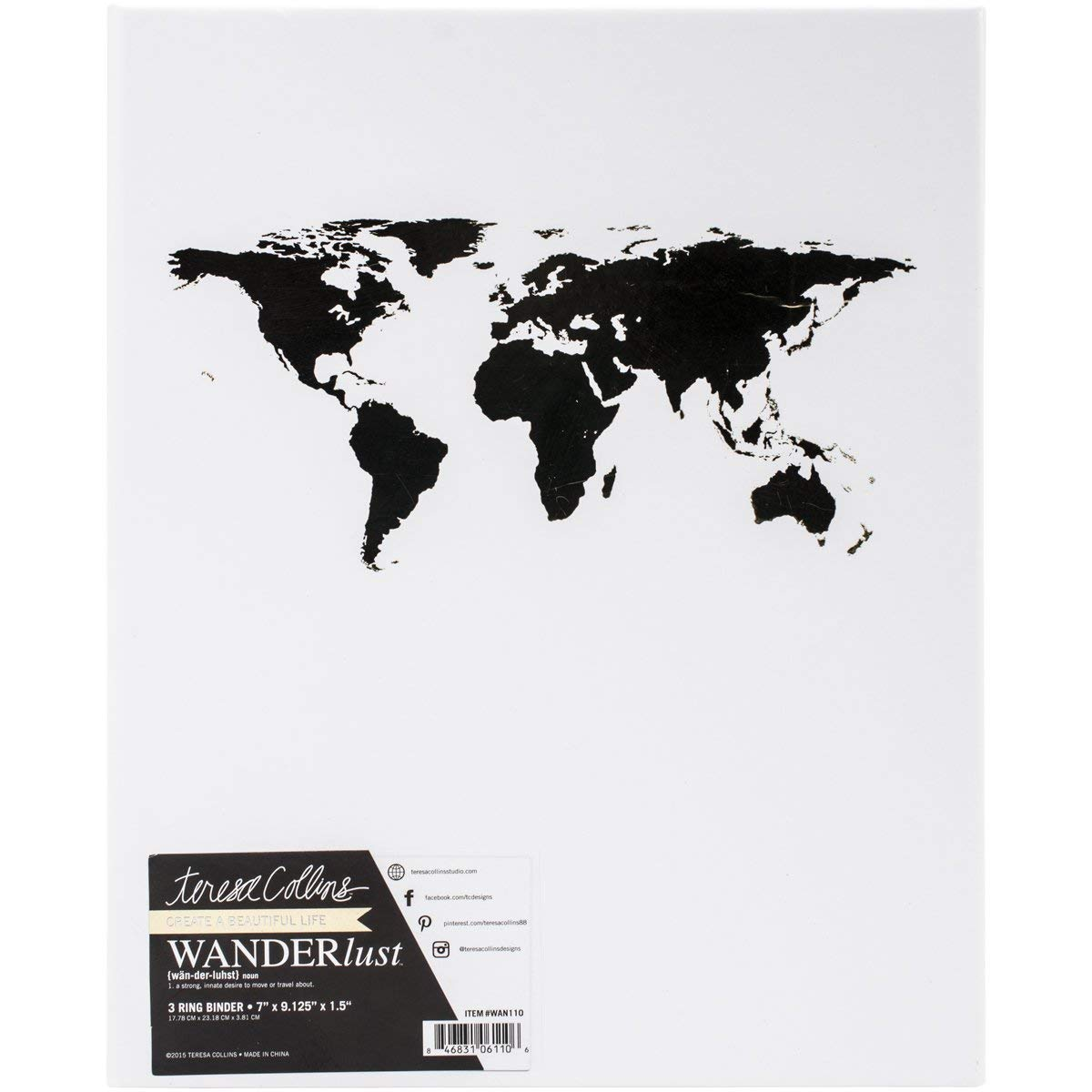 Teresa Collins archivador de cartón Wanderlust 17,78 cm x 23,18 cm,: Amazon.es: Hogar