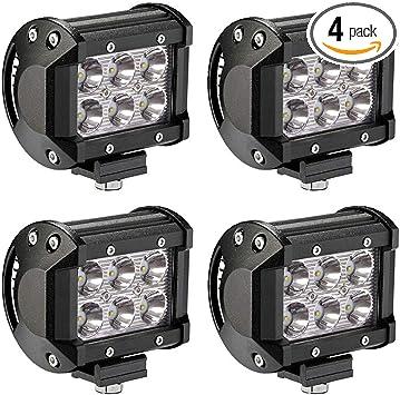 "20X 4/""inch 18W Cree LED Work Light Bar Spot Beam Driving Fog Lamp Truck 4D Lens"