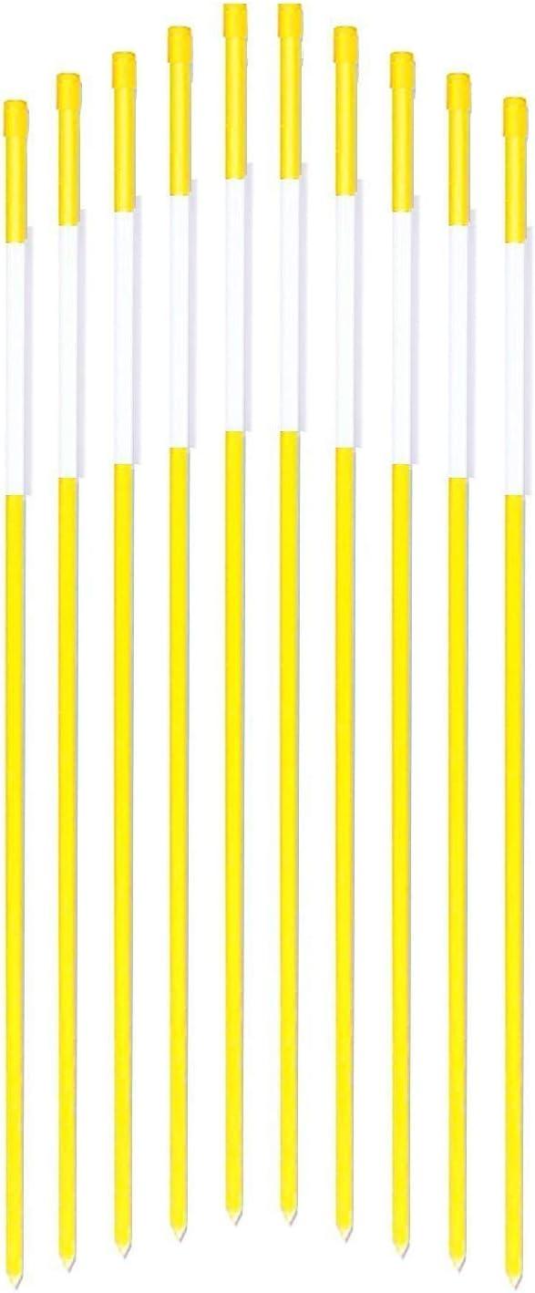 FiberMarker Driveway Markers 24-Inch Yellow 20-Pack 1//4-Inch Dia Snow Markers Highway Markers Snow Poles