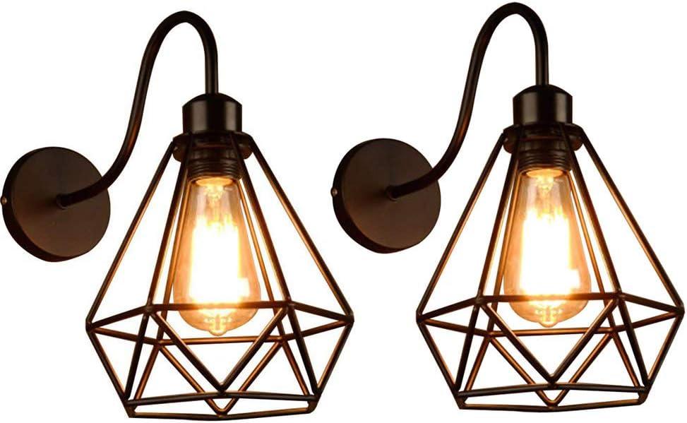 R/étro Metal Murale Applique Luminaire Antique Murale Industriel Supensions Luminaire Plafonnier Lumiere Vintage Edison Lampe Douille E27 Loft Bar Couloir Salle /à Manger 2 pi/èces