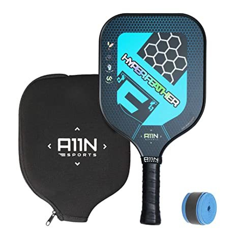 A11N Lightweight Graphite Pickleball Paddle- Upgrade Racquet   Composite Polymer Honeycomb Core   4.25 in Ultra Cushion Grip   8 Oz, Includes Paddle ...