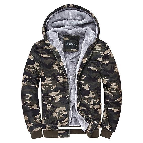 Amazon.com: Dreamskull Camouflage Abrigos de forro polar con ...