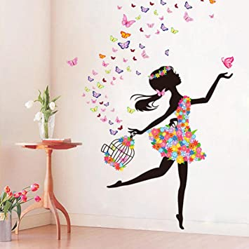 Amazon Com Creative Personality Background Mural Creative Butterfly