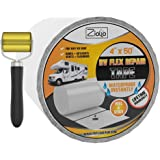 Ziollo RV Flex Repair Tape | White | 4 inch x 50 Foot Roll | Seal and Waterproof Roofs | Bond to EPDM Rubber with Butyl Seala