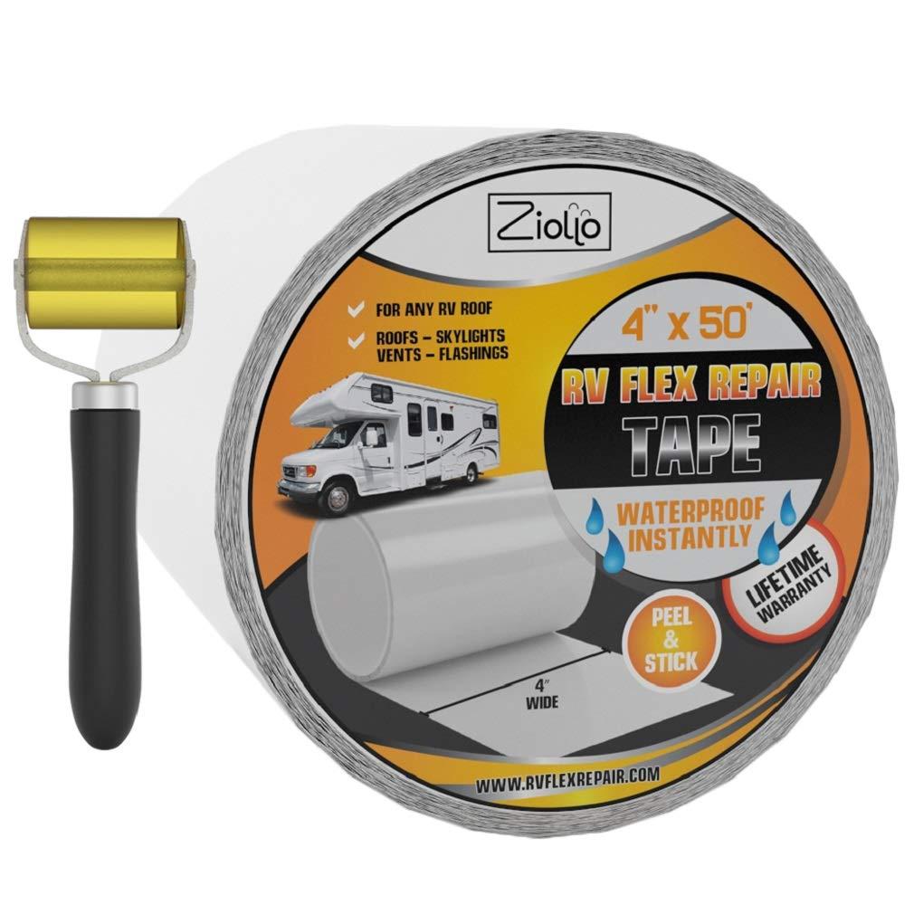 Ziollo RV Flex Repair Tape   White   4 Inch by 50 Feet   Seam Roller Inc by Ziollo