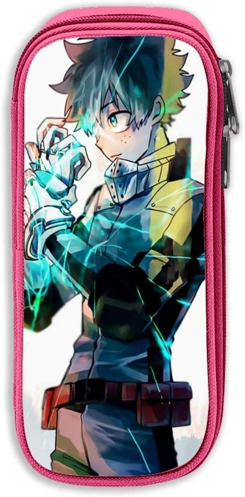 Unisex Teen High Capacity Zipper Pen Case Manga Heroaca Izuku Midoriya Fanart Marker Bag Desk Organizer Lightweight Students Stationery Pouch For College Amazon Co Uk Office Products