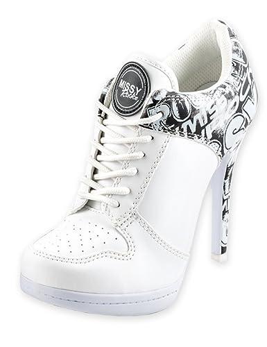 MISSY ROCKZ Bequeme Sneaker High Heels Damenschuhe Street ROCKZ Weiß ...