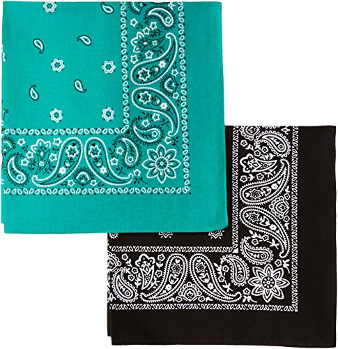 Levi's Men's 2 Pack 100% Cotton Bandana Headband Gift Sets, Black/Green, One Size