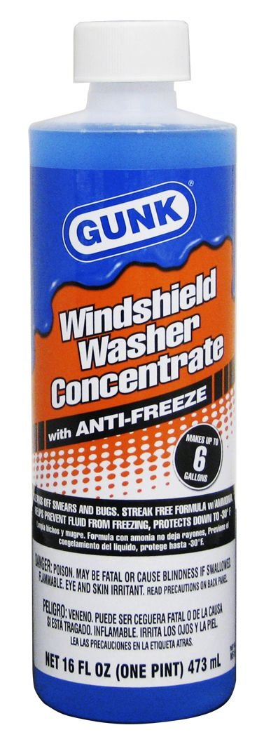 GUNK M516-12PK Windshield Washer Concentrate with Anti-Freeze - 16 oz., (Case of 12)