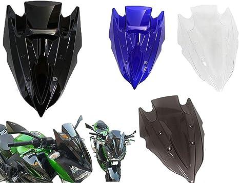 Motorcycle Double Bubble Windshield Windscreen For Kawasaki Z250 Z300 2013 2014 2015 Smoke