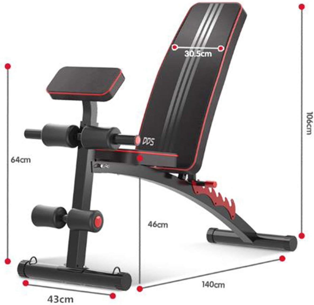 R/églable Banc de Musculation Banc Musculation Multifonction Inclinable Station de Musculation Jambe Conditionnement Physique Maison FXMJ Banc de Musculation Pliable