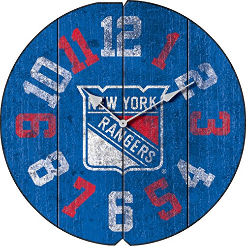 - Imperial Officially Licensed NHL Merchandise: Vintage Round Clock, New York Rangers