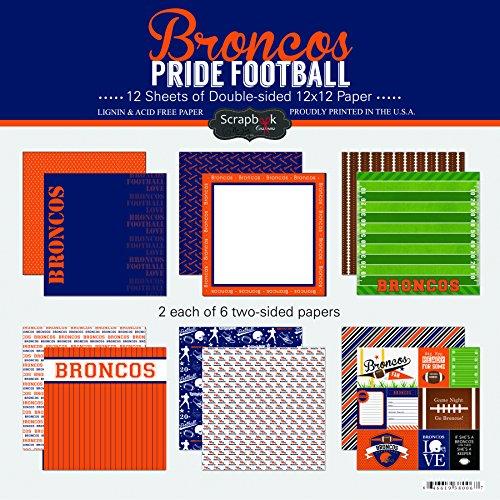 (Scrapbook Customs Broncos Pride Football Scrapbook Kit)