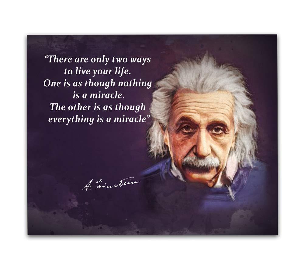Amazon Albert Einstein Quotes Wall Art 8x10 Unframed Art