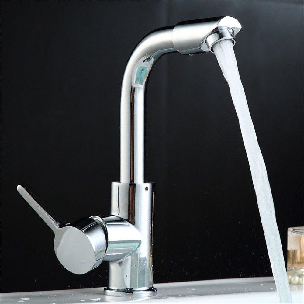 MEIBATH Küchenarmatur Spültischarmatur Mischbatterie Spiralfederhahn Warmes und kaltes Wasser 360° Schwenken Wasserhahn
