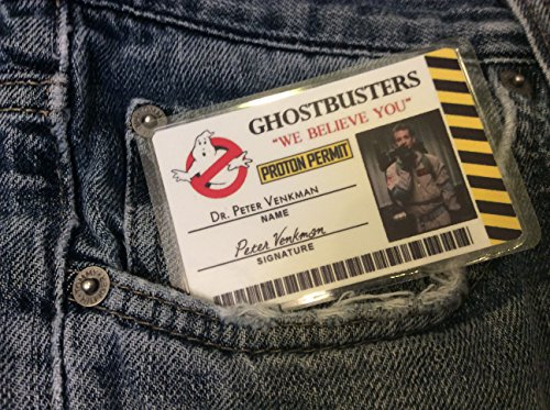 Set of 5 Ghostbuster's Novelty ID featuring Peter Venkman, Ray Stantz, Egon, Winston and Slimer