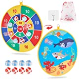 Dart Board Game for Kids with 8 Sticky Balls, Safe Classic Dartboard Set, Christmas Dart Games Gift for Boys Girls -13.5…