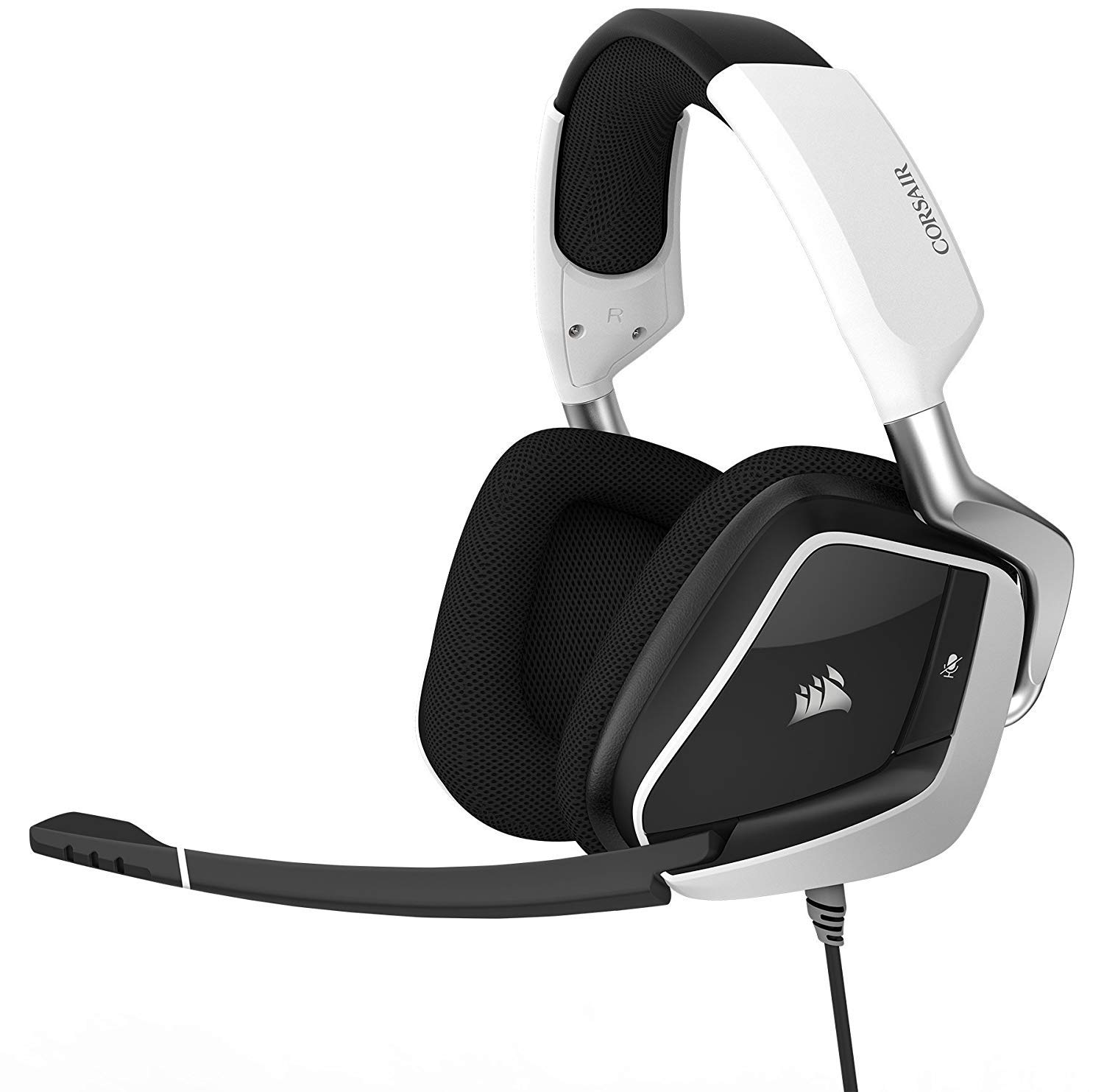 CORSAIR Void PRO RGB USB Gaming Headset - Dolby 7.1 Surround Sound Headphones for PC - Discord Certified - 50mm Drivers - White