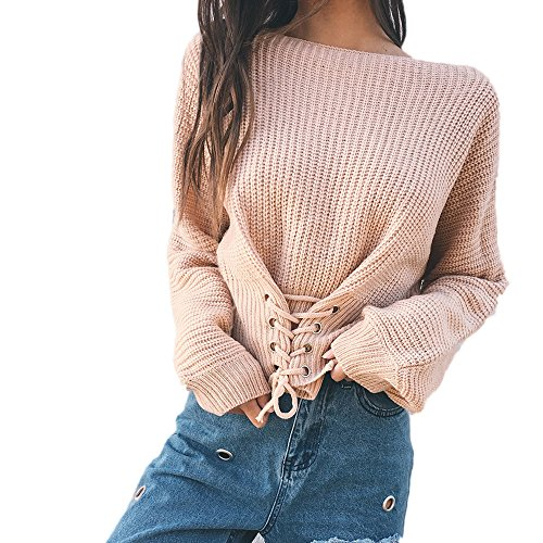 Pullover Femmes Elegant Blouson Blouse Automne Chandail Reaso Loose Tricot Kaki Hiver Chandail Manches Ultra Tricoter Cardigan Sweater Casual Pull Bandage Longues E5HwqnOz