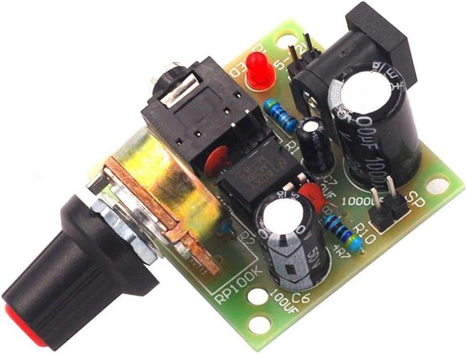 Blu Longspeed LM386 Super Mini 3V-12V Amplificatore di Potenza Kit Completo per Scheda Kit elettronico Fai-da-Te Modulo di amplificazione Audio Basso consumo