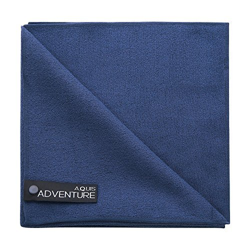 Aquis Adventure Microfiber Towel, Blueberry, Large (19 x 39-Inches) AV1130BBF