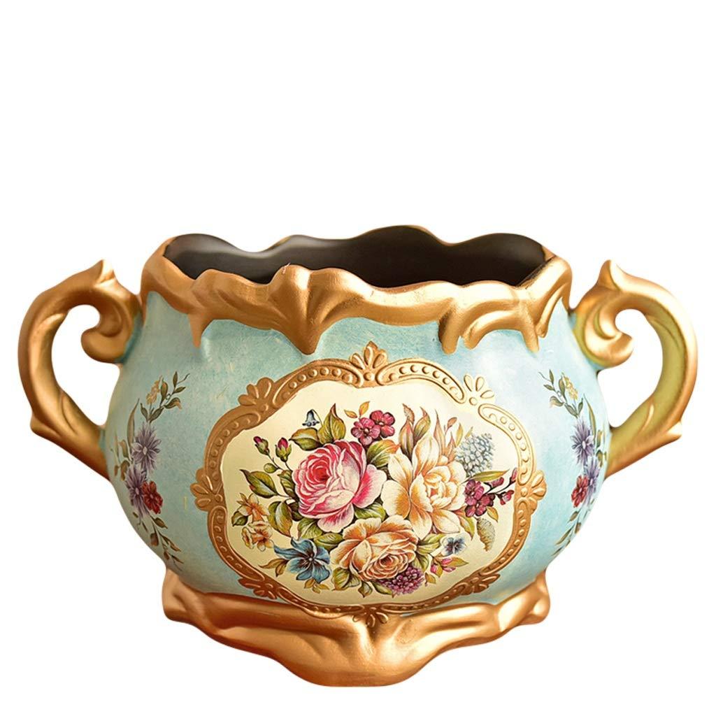 MAHONGQING 花瓶アメリカのレトロセラミック花瓶装飾フラワーポット装飾ヨーロッパダイニングテーブルリビングルームシミュレーションドライフラワーフラワーアレンジャー B07S2GCM9X