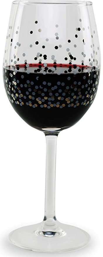 Amazon.com: Circleware Confeti - Juego de 4 copas de vino ...