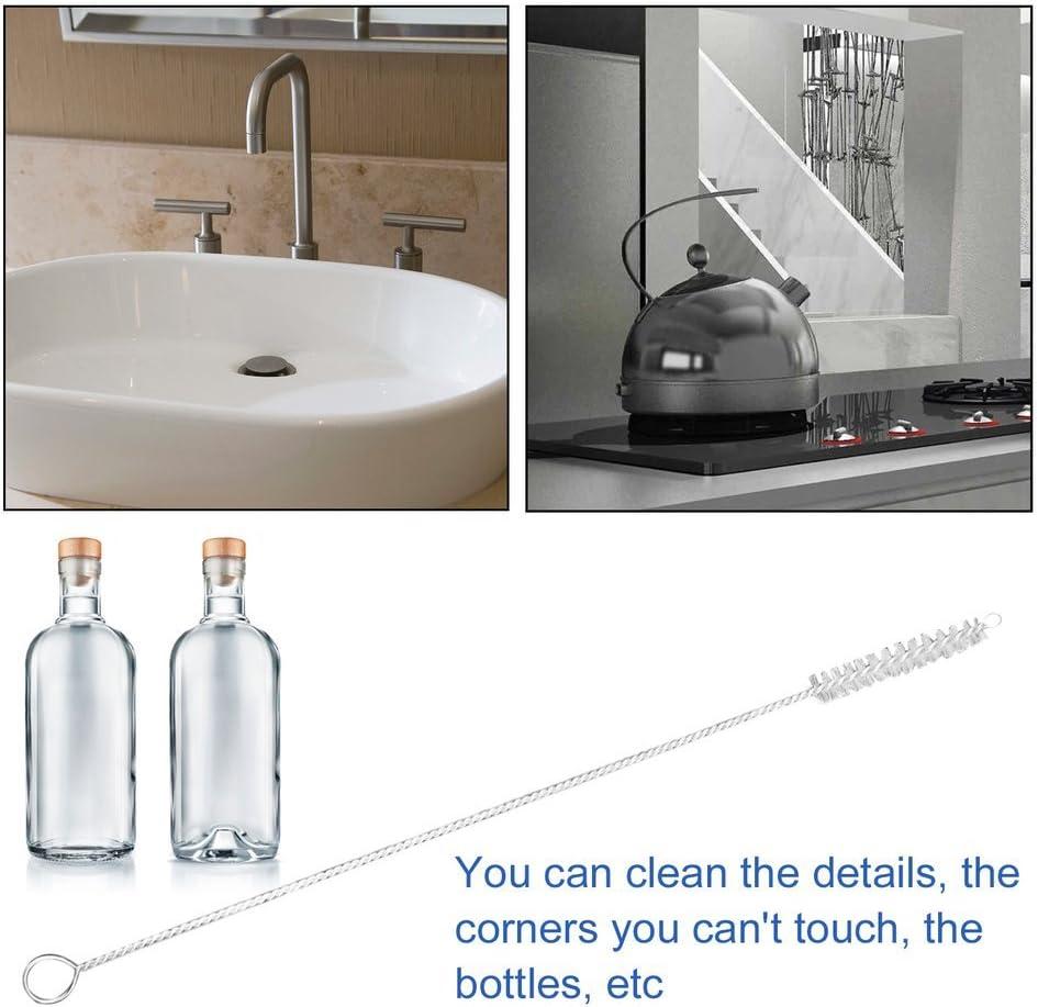 LeoboodeNylon Straw Cleaners Reinigungsb/ürste f/ür Trinkpfeife Tube Cleaner Edelstahl Baby Trinkflasche Clean Tools