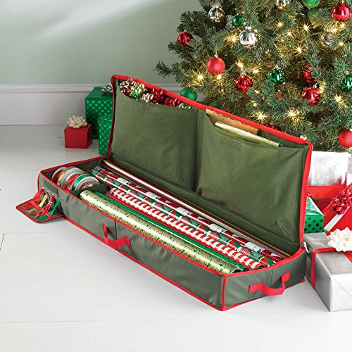 Easier and More Organized Spacious Holiday Gift Wrap Under Bed Wrapping Paper Storage by Real Simple