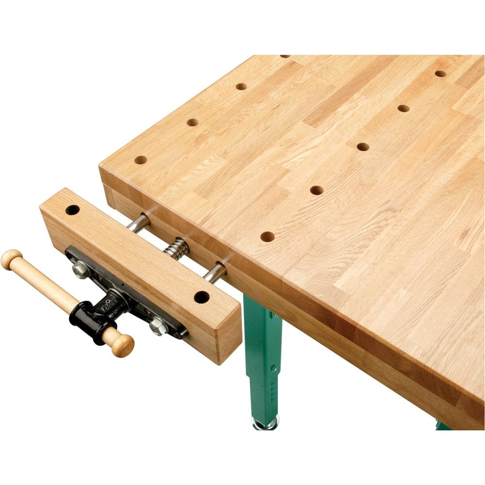 Grizzly T10157 Heavy-Duty Oak Workbench with Steel Legs by Grizzly (Image #3)