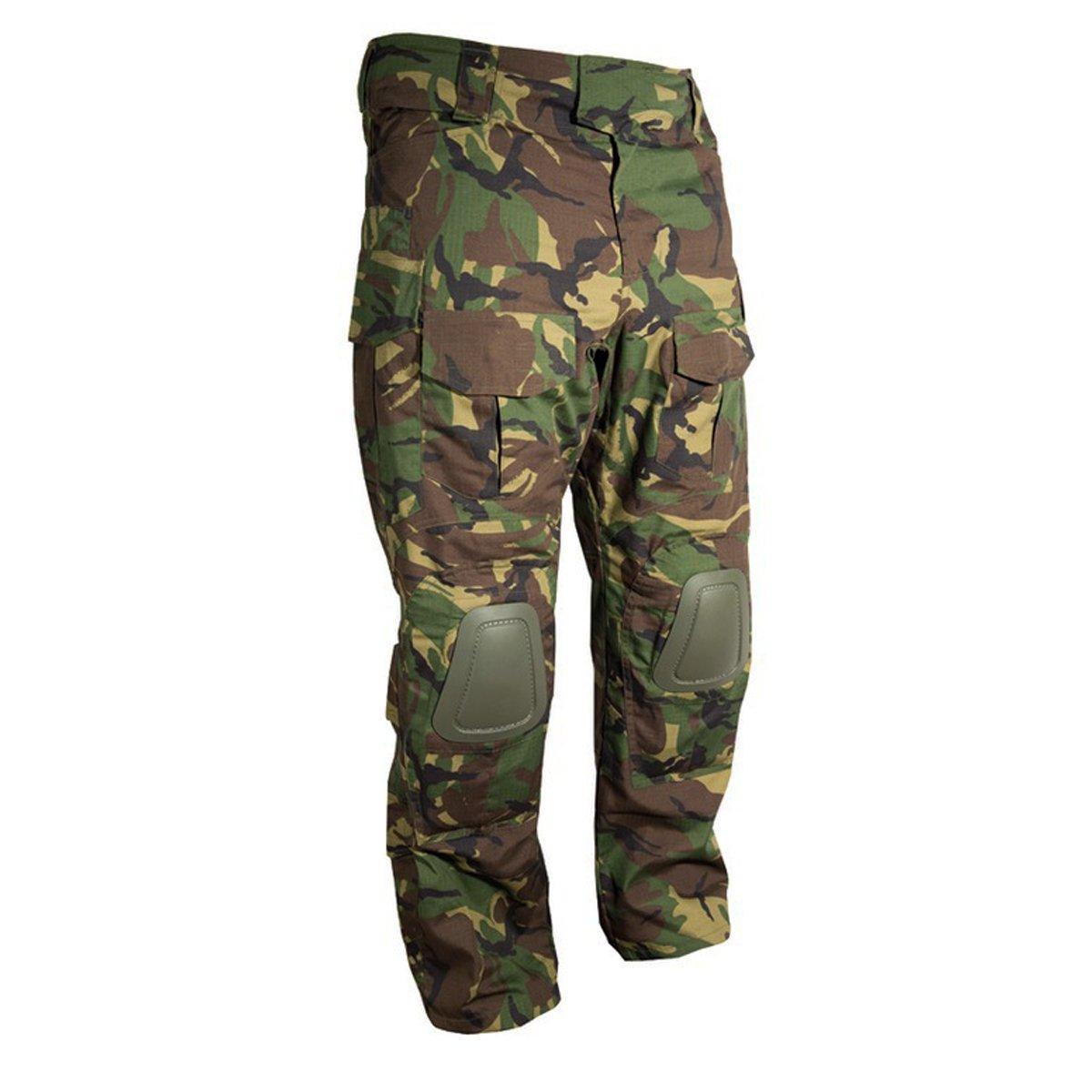 pantaloni Kombat con rinforzi sulle ginocchia Combat ottica camouflage mimetica