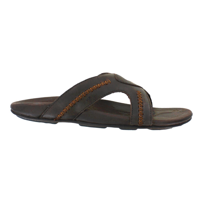 Olukai Mea Ola Slide Sandal - Men's Dark Java/Dark Java 10