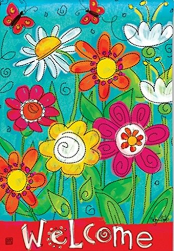 BreezeArt Welcome Blooms Garden Flag 31274 (Art Breeze)