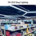 JESLED 4W T8 LED Tube Light Bulbs, 1ft led Fluorescent Tube Replacement, 6000K Daylight White, Clear Cover (1-Pack)