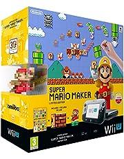 Nintendo Wii U: Console + Super Mario Maker + Amiibo Mario - Premium Pack [Bundle] [Importación Italiana]