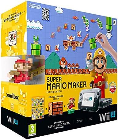Nintendo Wii U: Console + Super Mario Maker + Amiibo Mario - Premium Pack [ Bundle] [Importación Italiana]: Amazon.es: Videojuegos