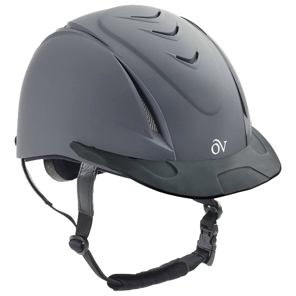 Ovation Large/X Large Comfortable Ventilated Deluxe Schooler Helmet Dark Grey