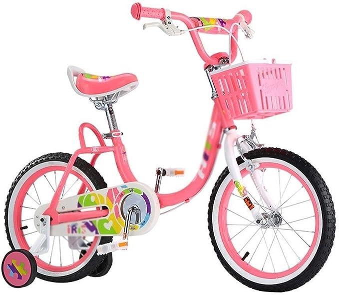 AJZGF Bicicletas niños Bicicleta Infantil Marco de Acero Bicicleta ...