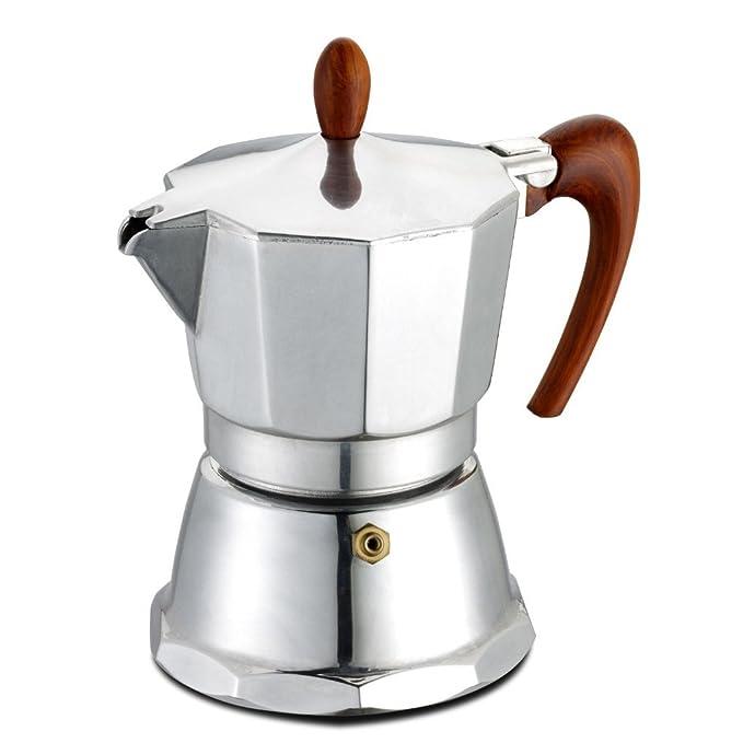 GAT Café Caffe - Cafetera exprés para cocinas - Aluminio - Asa y ...