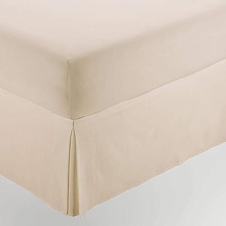 ESTELA - Cubrecanapé Hilo Tintado RÚSTICO Color Crema - Cama de 135 - Alto 35 cm - Tipo Colcha - 50% algodón / 50% poliéster - Medidas: 135 x 190/200 ...