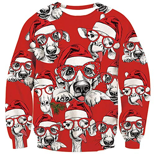Loveternal Men Women Merry Christmas Sweater Funny Dog