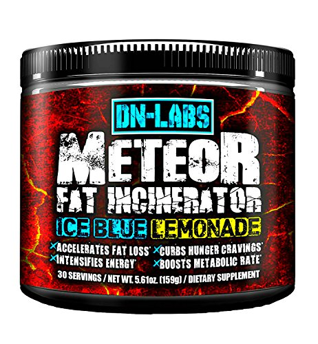 Meteor - Delicious & Potent Fat Burner Drink - Bodybuilding Weight Loss Secret - Ice Blue Lemonade - Appetite Suppression Supplement For Thermogenics by DN-LABS