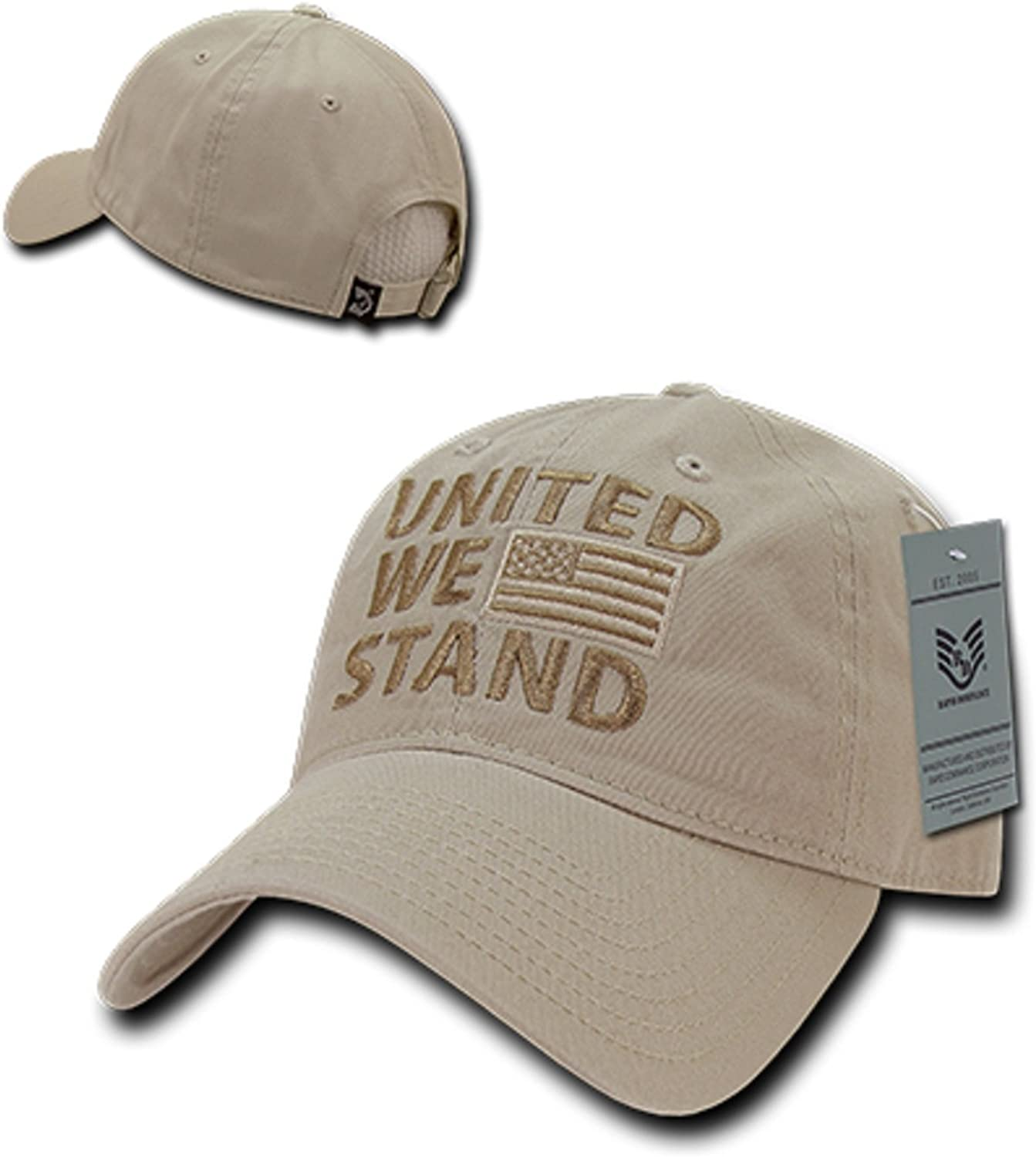 United We Stand Patriotic American Pride Flag USA Cotton Polo Baseball Hat Cap